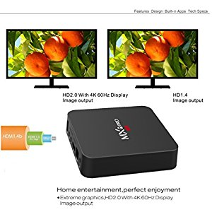 Henscoqi MXQ PRO Smart TV Box 2GB 16GB 4K HD 3D Wifi H : Very happy with  the product